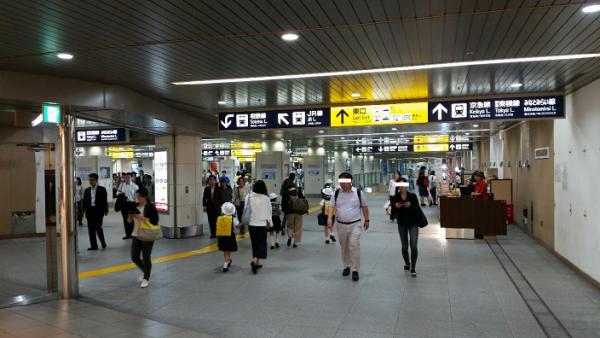 横浜駅地下鉄ブルーライン改札から東口へ②