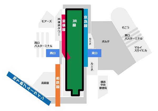 横浜駅構内図JR線