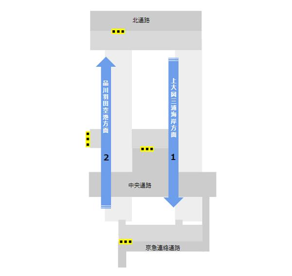 横浜駅構内図京急