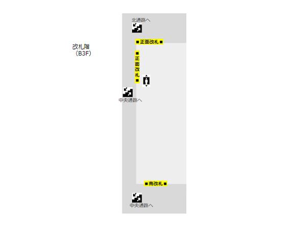 横浜駅構内図東急東横-改札階