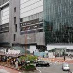 横浜駅西口前の広場、交番、バスロータリー、タクシー乗り場