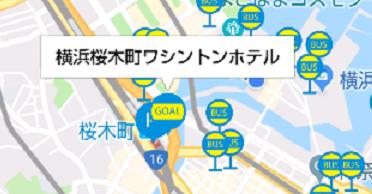 みなとみらいAI運行バスアプリ-行き先の設定