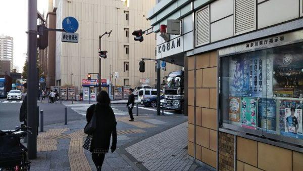 日本大通り駅前の交番