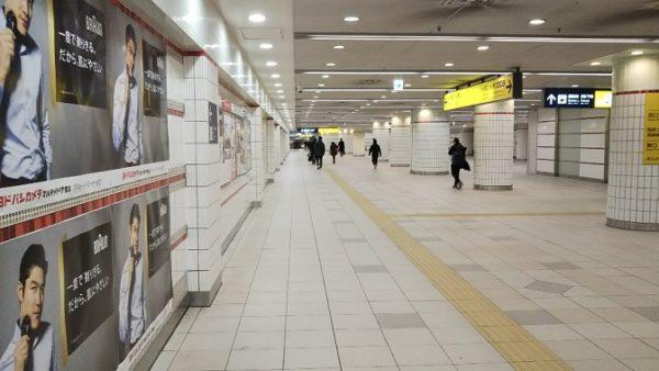 横浜駅の南北通路