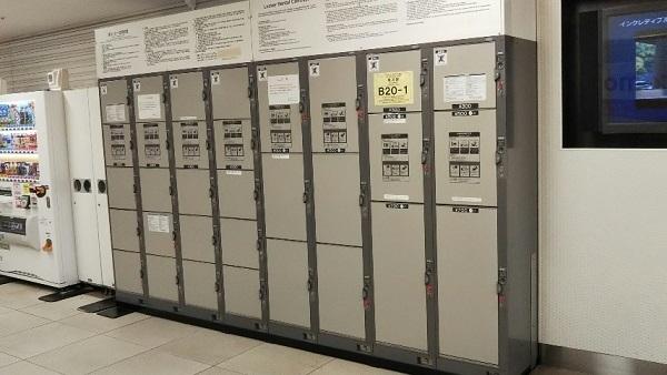 横浜駅地下鉄ブルーライン改札外のロッカー