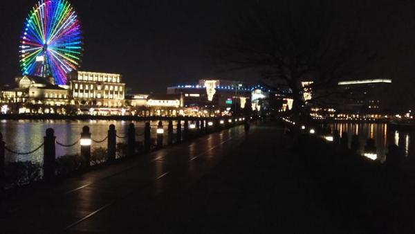 汽車道の夜景
