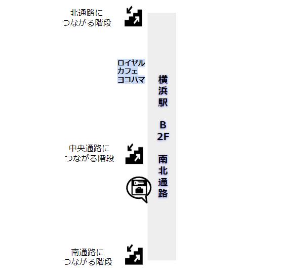 横浜駅南北通路地図