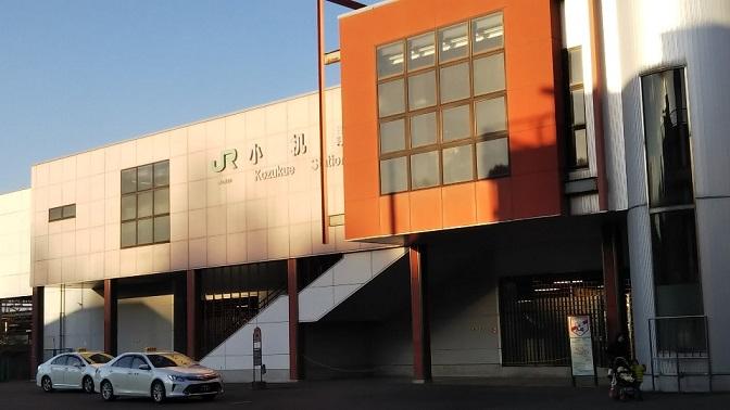 小机駅南口のロータリー