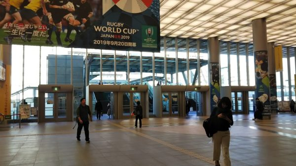 新横浜駅のキュービックプラザの北出入口
