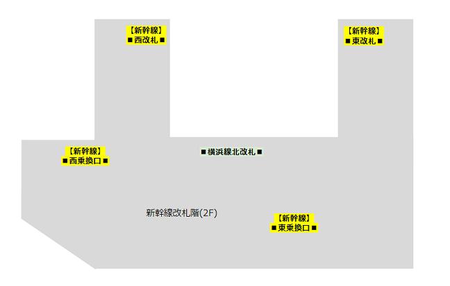 新横浜駅の新幹線改札階(2F)