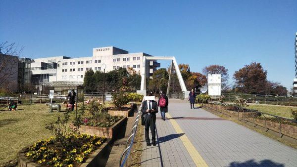 新横浜駅前公園のさんかく橋