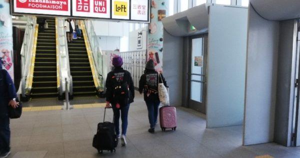 新横浜駅の駅ビルキュービックプラザ2Fのロッカーの場所