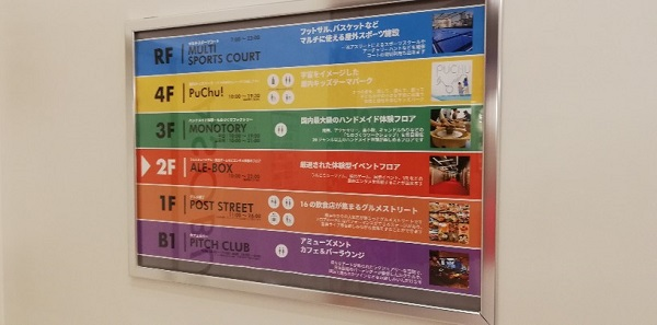 横浜アソビルのフロアガイド