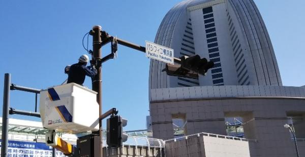 みなとみらいパシフィコ横浜前の交差点