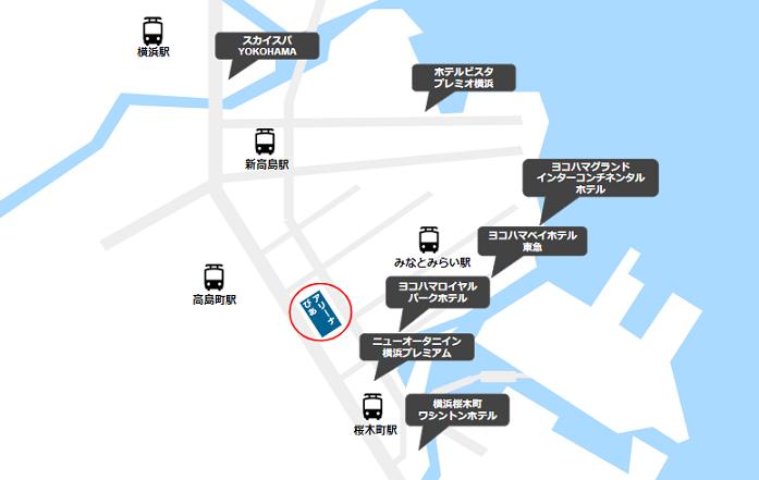 ぴあアリーナMM周辺のホテルマップ