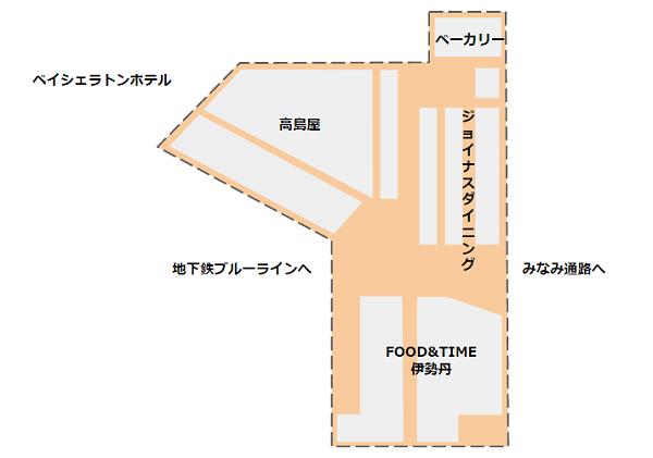 横浜駅地下街マップ(みなみ側)