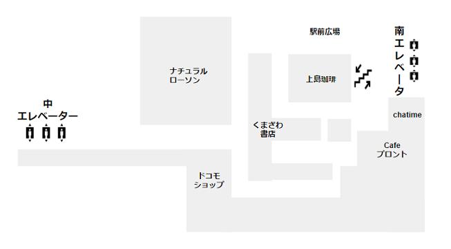 マークイズみなとみらいB4(待ち合わせフロア)フロアの概略図