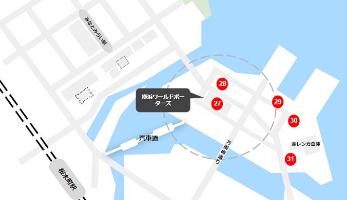 みなとみらいの駐車場(横浜ワールドポーターズ周辺)