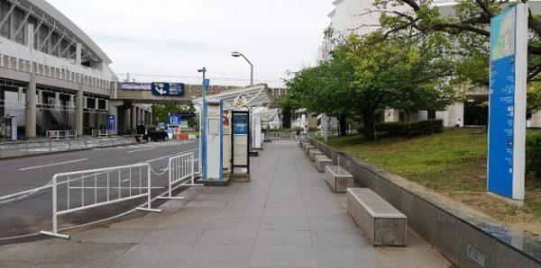 パシフィコ横浜内のバス停