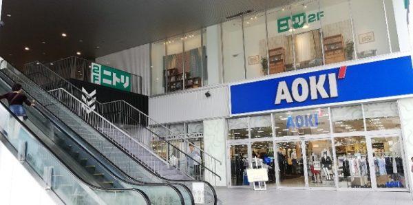 プライムギャラリーみなとみらい2Fのニトリ店舗(AOKIの上)