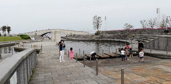みなみみらいの臨港パークの潮入の池