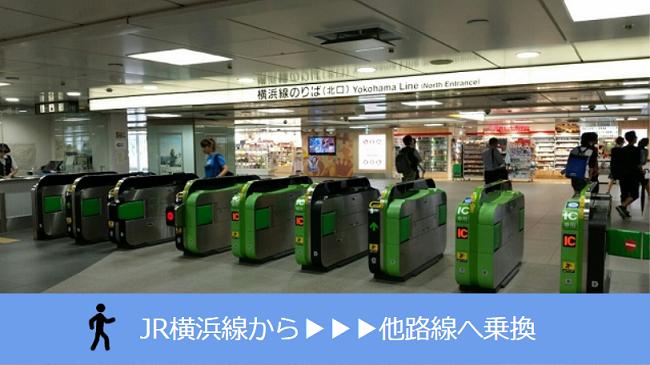 新横浜駅、JR横浜線から他路線への乗り換え