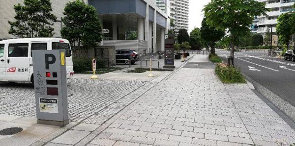 トラストパークみなとみらいビジネススクエア駐車場入り口