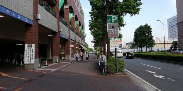 横浜ワールドポーターズ駐車場入口