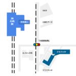 川崎駅東口のチネチッタの場所