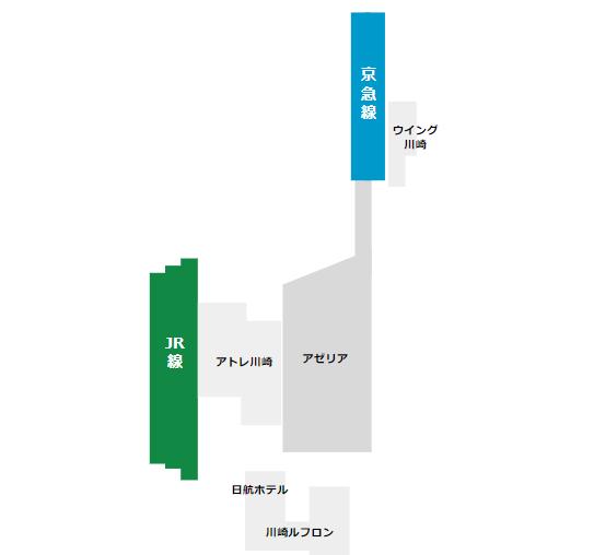 川崎駅の構内図【簡易版】