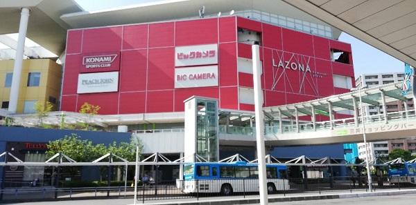 川崎駅構内隣接のラゾーナ川崎プラザ