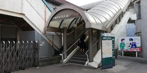 川崎駅、東西連絡歩道橋