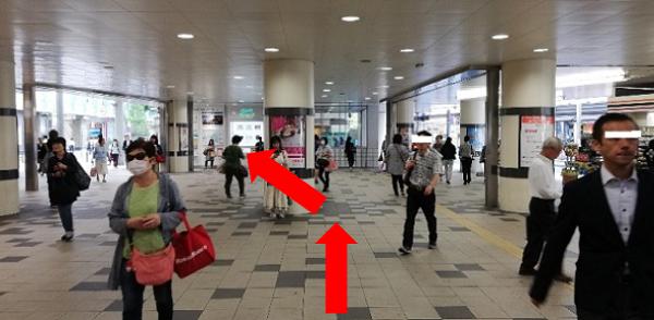 京急川崎駅の中央改札前