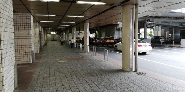 横浜駅東口のポルタ地下街のタクシー乗り場