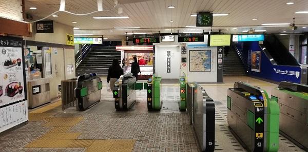 JR関内駅の南口改札