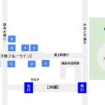 関内駅の構内図(出口の位置確認用)