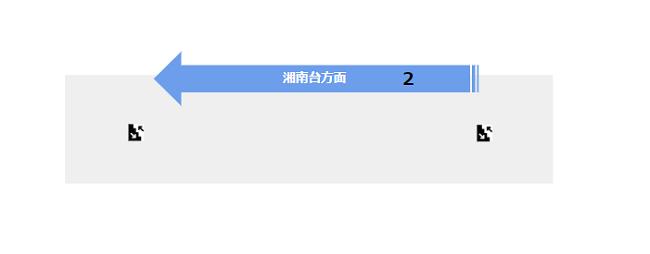 関内駅の構内図(地下鉄ブルーラインのホーム階-B2F)