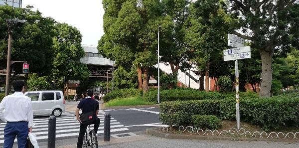 関内駅前、大通り公園の信号