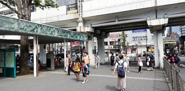川崎駅の東口の高架下