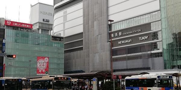 横浜駅西口、モアーズビルとバスターミナル