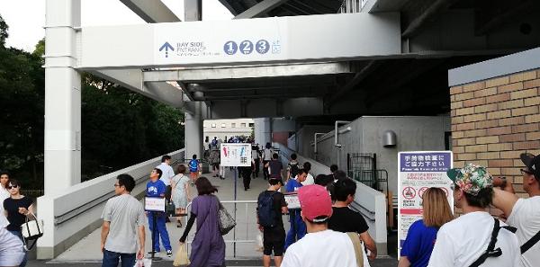 横浜スタジアムのベイサイドエントランス