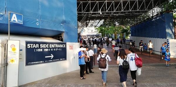 横浜スタジアムスターサイドエントランス