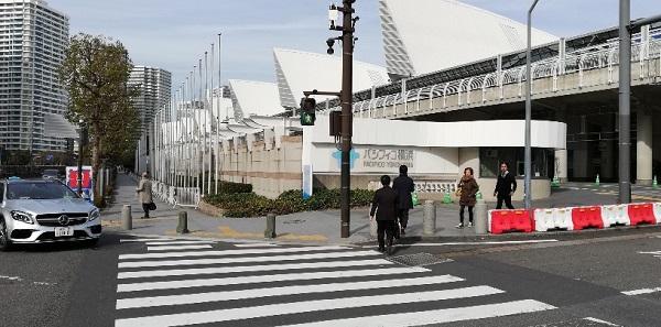 パシフィコ横浜展示ホール1Fの出入り口