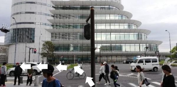 パシフィコ横浜会議場前の交差点