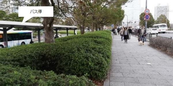 桜木町駅前のバス停