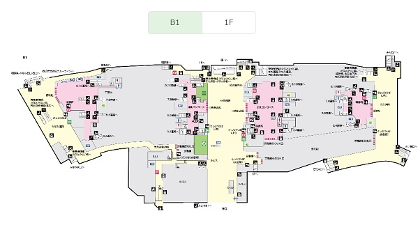 JR提供の横浜駅構内図