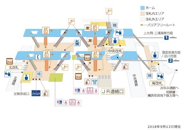 京急線横浜駅構内図