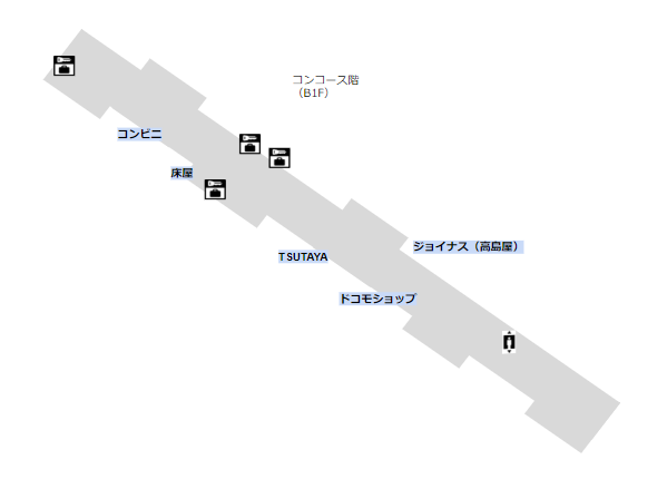 地下鉄ブルーライン横浜駅構内(B1Fコンコース)