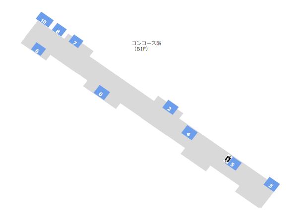 地下鉄ブルーライン横浜駅構内図(コンコース階)