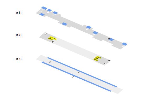 地下鉄ブルーライン横浜駅(階層図)